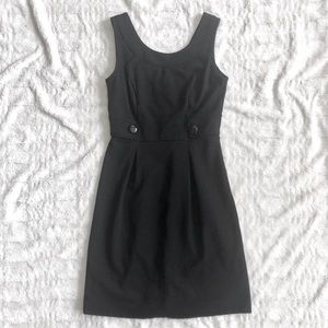 NWOT WHBM Black Career Dress With Button Detail 0